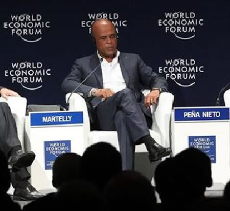 Michel Martelly at World Economic Forum on Latin America