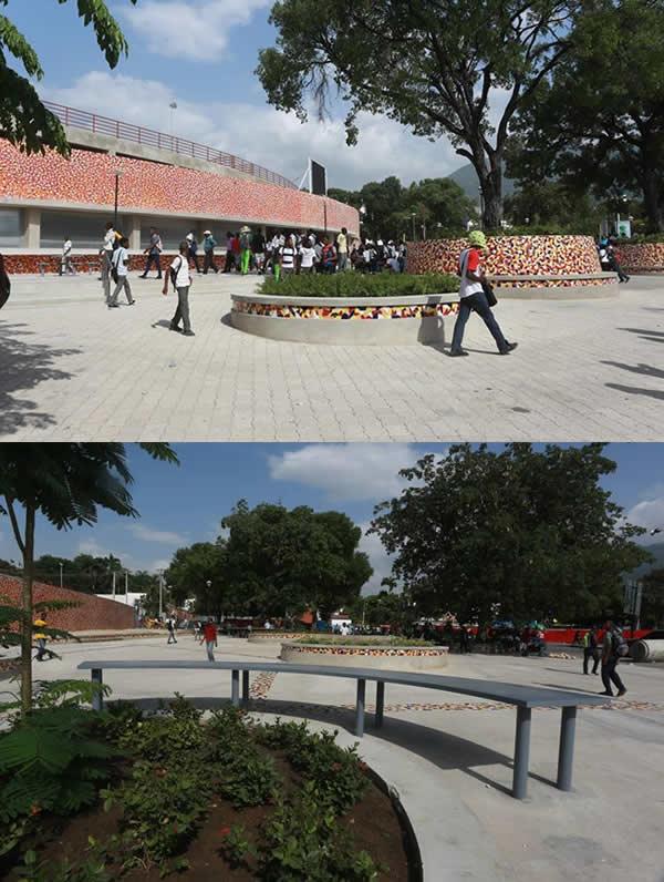 Kiosk Occide Jeanty turned into amphitheater