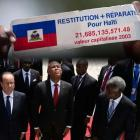 We have a moral not financial debt to Haiti, François Hollande