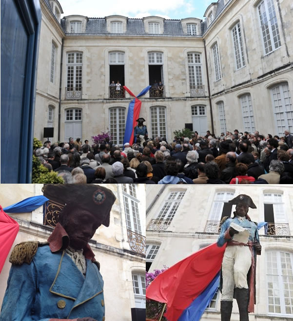 New Toussaint Louverture statue in La Rochelle, France