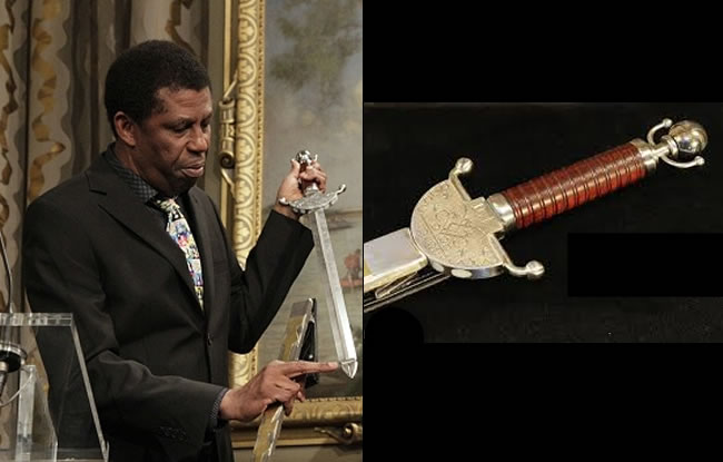 Dany Laferrière received traditional Academician sword