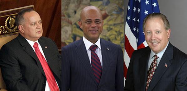 Venezuela Diosdado Cabello and Thomas Shannon met in Haiti
