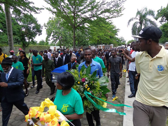 Funeral of Michel Tassy of Septentrional group