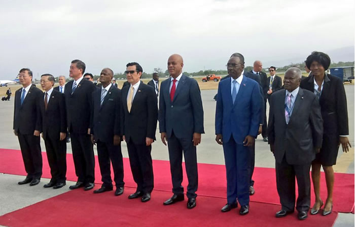 President Ma Ying-jeou of Taiwan in Haiti with Martelly and Paul