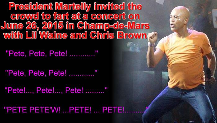 President Martelly as Sweet Micky, Pete, Pete, Pete