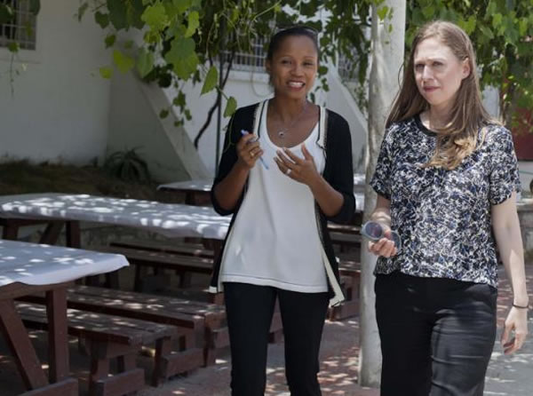 Chelsea Clinton with Clinton Foundation In Haiti