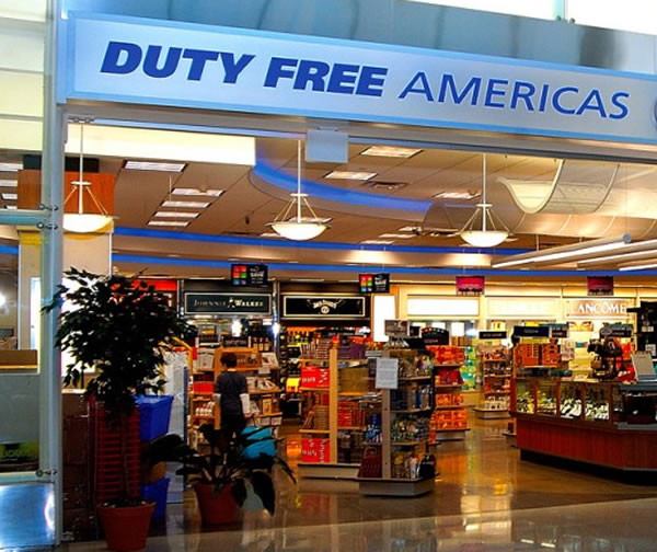 Duty Free Americas (DFA) store at Toussaint Louverture International Airport