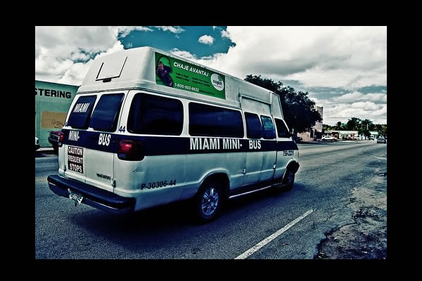 Miami Miami Mini Bus serving Little Haiti