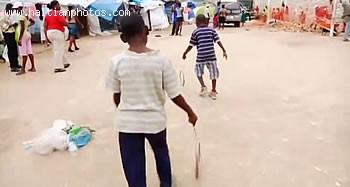 Haiti Children Playing Rope