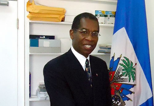 Haitian Ambassador in the Bahamas, Antonio Rodrigue