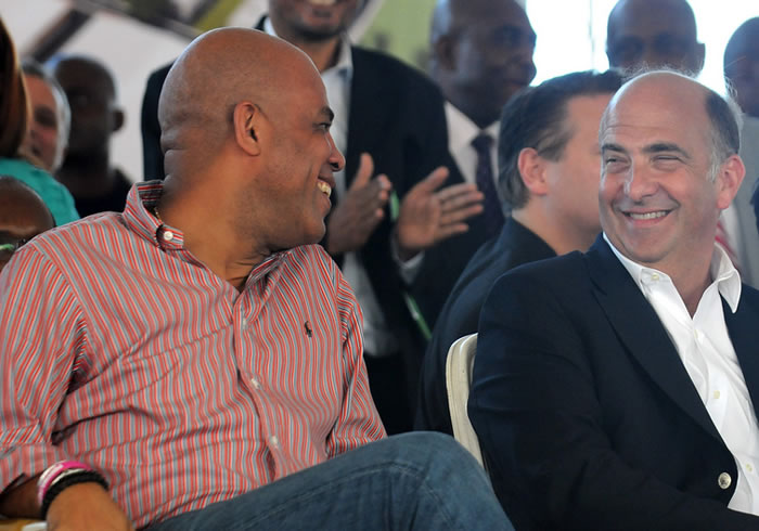 Kenneth H. Merten with Michel Martelly
