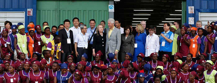 Hillary and Bill Clinton in Haiti