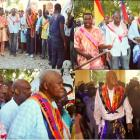 Prime Minister Evans Paul in Gran Lakou Souvenance, Gonaives
