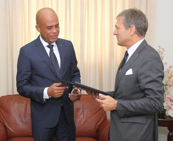 Ambassador of the European Union in Haiti, Vincent Degert