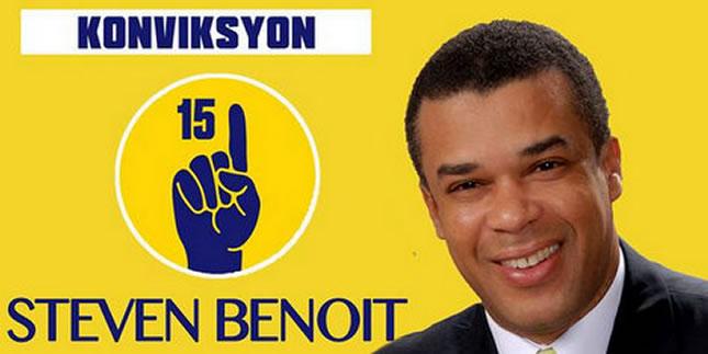 Steven Benoit, presidential candidate under platform Konviksyon