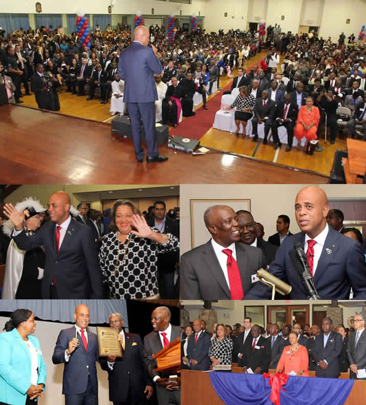 Michel Martelly meeting Haitian Community in Spring Valley