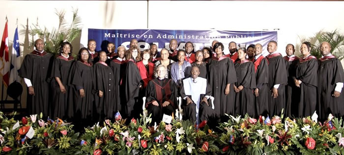 Haitian officials master's degree ENAP of Quebec