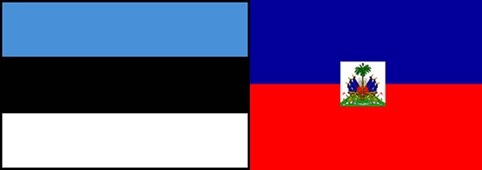 Flags of Haiti and Estonia