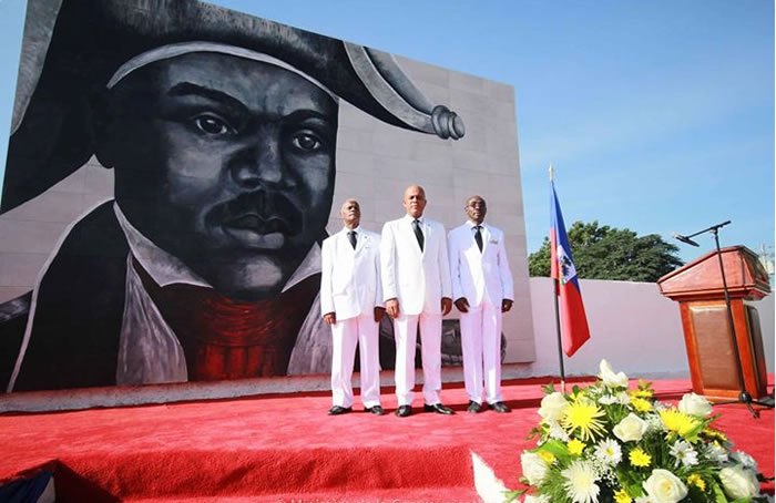 Martelly, Paul commemorating Jean-Jacques Dessalines