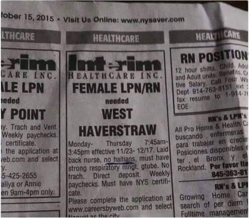 Help wanted ad in Pennysaver,