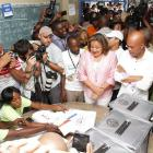Michel Martelly Voting on October 25, 2015