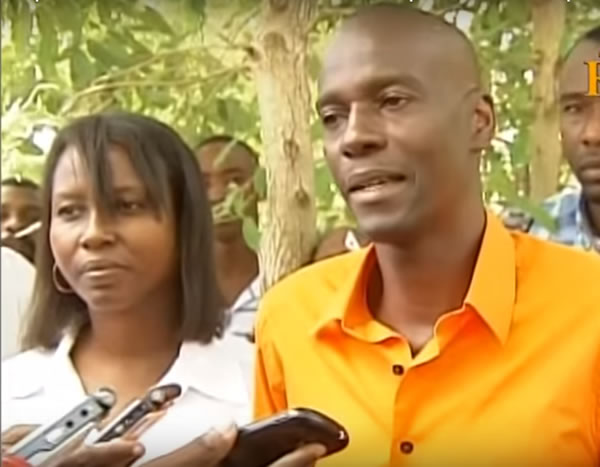 Jovenel Moise and wife voting