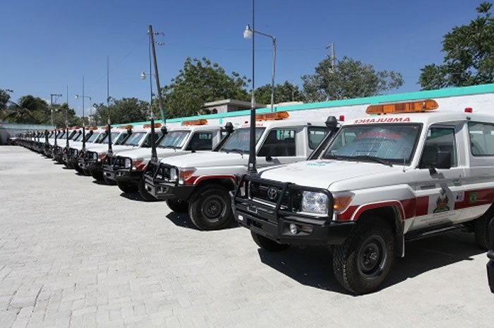 National Ambulance Centre at Mais Gate Avenue in Port-au-Prince