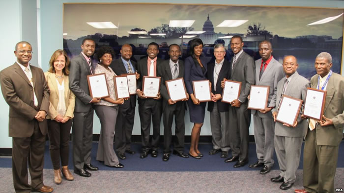 Haitian journalists received certificates from VOA