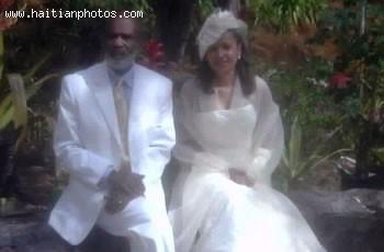 Haitian President Rene Preval And Wife Elizabeth Debrosse