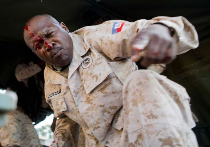 CIMO officer shot during Haiti Protest