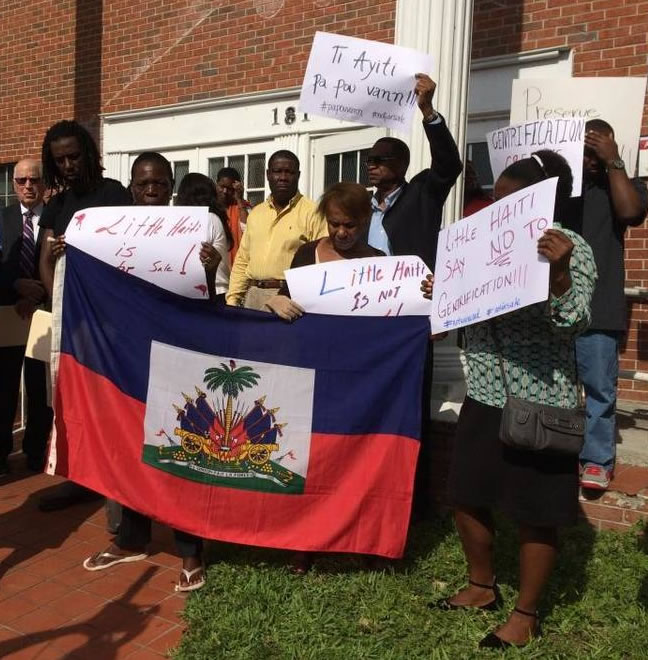Little Haiti residents protest gentrification of Little Haiti