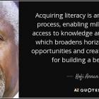 Kofi Annan on literacy