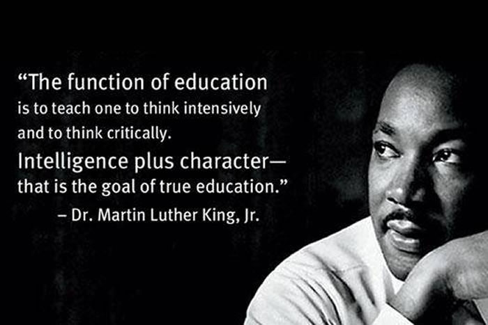 Dr. Martin Luther King on Education