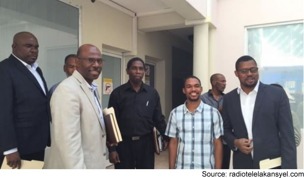 Haiti Elected parliamentary picking-Up Certificate at CEP