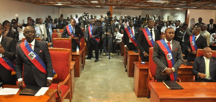 The elected senators of the 50th Legislature in Haiti