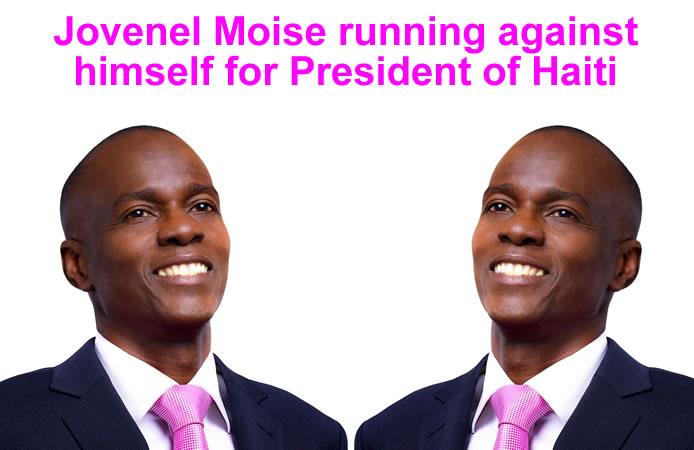 Jovenel Moise running against himself for Haiti President