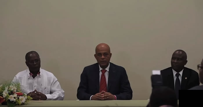 Agreement between Michel Martelly, Jocelerme Privert, Cholzer Chancy