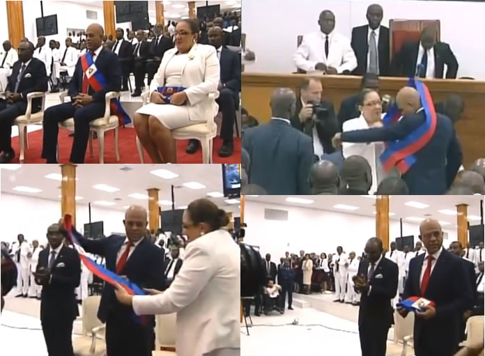 Removal of presidential sash from Michel Martelly