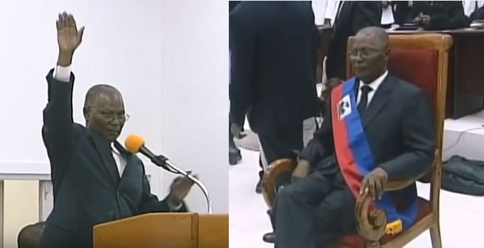 Jocelerme Privert took oath of office as new Provisional President of Haiti