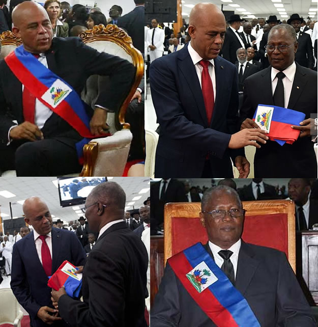 Jocelerme Privert and Michel Martelly