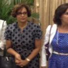 Maryse Narcisse, Mildred Trouillot Aristide at Jocelerme Privert's investiture
