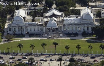 National Palace In Port-au-Prince After The 2010 Earthquake