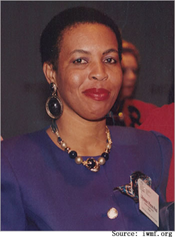 Lilianne Pierre-Paul, reporter for Radio Haiti International in the 1980s