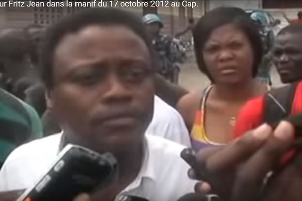 Fritz Jean protesting against MICHEL MARTELLY government