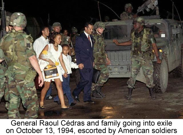 General Raoul Cedras going into exile