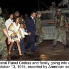 General Raoul Cedras going into