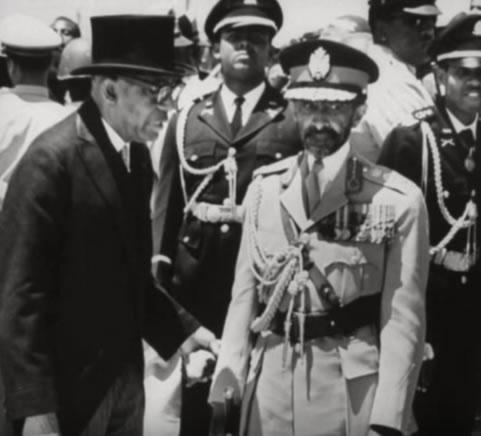 Francois Duvalier and Haile Selassie Emperor of Ethiopia