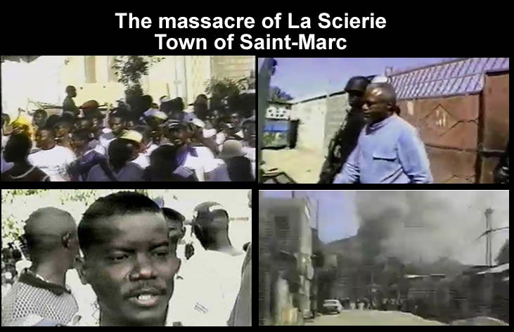 The massacre of La Scierie, town of Saint-Marc