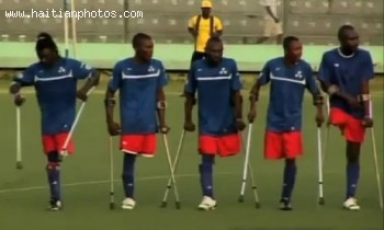 Handicapped Haitians Soccer Game