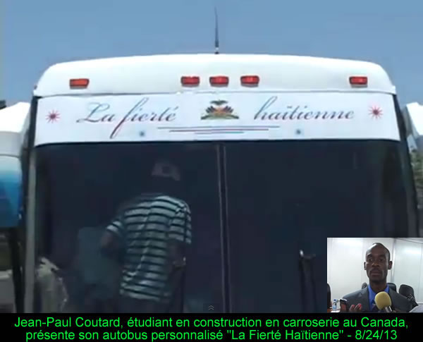 First Bus prototype Made in Haiti by Jean-Paul Coutard